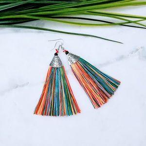 5 for $25 Multi Color Tassel Fringe Earrings